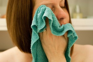 Put a Warm Moist Cloth on Your Face